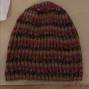 Wool multicolored beanie